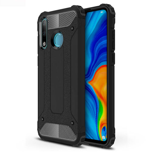 Military Defender Tough Shockproof Case for Huawei P30 Lite - Black